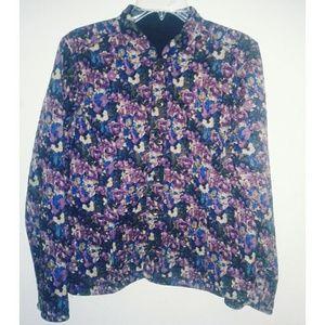 Jackets & Blazers - Floral/Navy Reversible Jacket